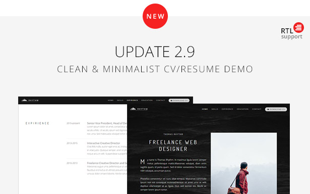 update 2.9 - Rhythm - Multipurpose One/Multi Page Template